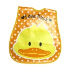 Cute Duck Style Waterproof Baby's Bib - Yellow