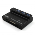 UNITEK Y-C3123 Ultra High-Speed 4-Port USB 3.0 HUB + SD / Micro SD / M2 / CF/ MS Card Reader - Black