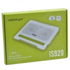 "Coldplayer IS-920 Notebook ultra-silencieux Cooling Pad w / 2 Fans pour ordinateur portable 15 ""- Blanc"