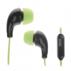 Stylish In-Ear Earphones w/ Microphone for Iphone / BlackBerry / Samsung (3.5mm Plug / 115cm-Cable)