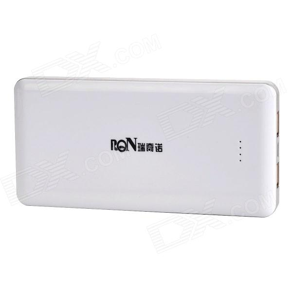 "Richino RD-198 Rechargeable ""12800mAh"" Dual-USB Emergency Mobile Power Source Charger - White"
