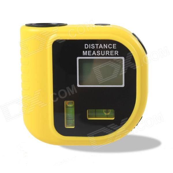 CPTCAM CP-3010 1.2 LCD Ultrasonic Distance Measurer w/ 2-Level Indicator Range Finder - Yellow m046 new laser guide ultrasonic distance measure range finder 15m mastech ms6450