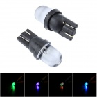 "Merdia T10 1W ""2500lm"" LED RGB Light for Car / Motorcycle Doorlight / Instrument Lamp - (Pair / 12V)"
