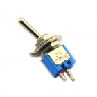 Jtron DIY 2-Pin Toggle Switch ON-OFF - Blue + Silver (5-Piece Pack)