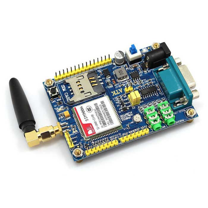 SIM900A GSM / GPRS ATK-SIM900A Module Development Board - Deep Blue sim868 development board module gsm gprs bluetooth gps beidou location 51 stm32 program