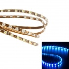"Merdia QPYP12T2C5 4.8W ""110lm"" 475nm 60 x SMD 3528 LED Blue Light Car Light Strip - (60cm / 12V)"