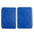 Stylish Protective PU Leather Case w/ LED Reading Light for Amazon Kindle Touch - Deep Blue