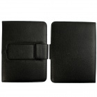 Bluetooth V3.0 64-Key Keyboard w/ Touchpad + PU Leather Case Cover for Samsung Galaxy P5200 - Black
