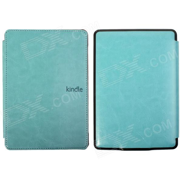 Protective PU Leather Flip Case Cover for Amazon Kindle Paperwhite - Light Blue cartoon painted flower owl for kindle paperwhite 1 2 3 case flip bracket stand pu cover for amazon kindle paperwhite 1 2 3 case