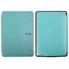 Protective PU Leather Flip Case Cover for Amazon Kindle Paperwhite - Light Blue