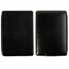 Protective PU Leather Flip Case Cover for Amazon Kindle Paperwhite - Black