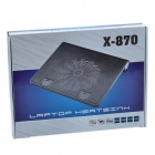X-870 Notebook Cool Pad w / 1-Fan - Noir