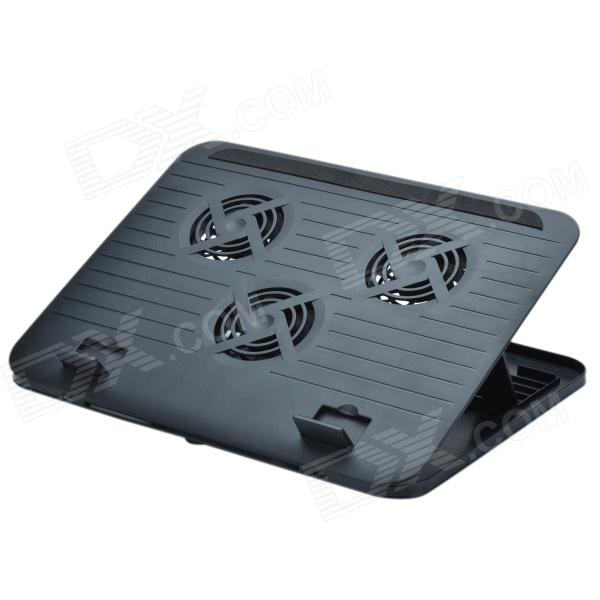 X-830 USB Powered Notebook Cooling Pad w/ 3-Fan - Black - DXCooling Gear<br>Brand N/A Model X-830 Material ABS Color Black Quantity 1 Piece Powered By USB Number of Fans 3 Fan Diameter 8 cm Other Features Input voltage: 5V Power: 3.35W. The fan configuration: 3 x 80 x 80 x 810mm Packing List 1 x Cooler pad 1 x USB cable (53.5cm)<br>