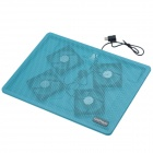 "Coldplayer IS-428 Ultra-Quiet High Speed Cooling Pad w/ 4 Fans for 15"" Laptops - Light Blue"