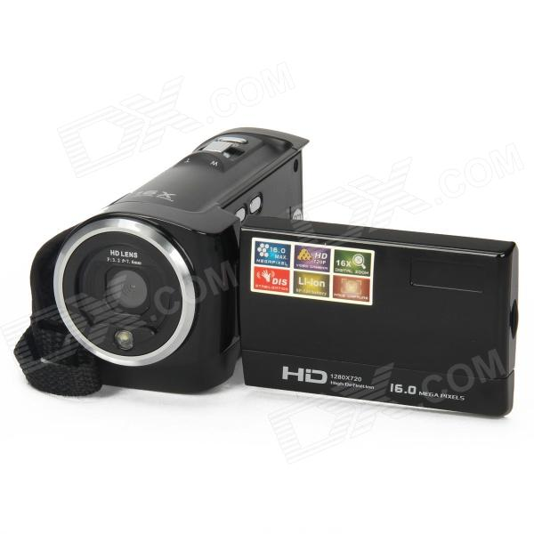 DV-777-B 2.7 TFT LCD Max 16MP 16 X Digitale Zoom Video Camcorder - zwart
