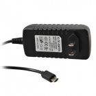 AC Power Charger Adapter w/ Micro USB Cable for Acer A510, A700 - Black (US Plugs / 104cm-cable)