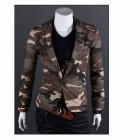 Monseden X09 Fashionable Men's Camouflage Jacket - CP Camouflage (Size L)