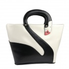 Creative Swan Style PU Handbag for Women - White