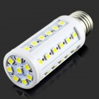 E27 7W 6500K 700lm 44 x SMD 5050 LED White Light Bulb Lamp - Weiß + Silber (AC 220 ~ 240V)