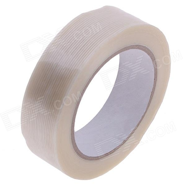 Fiber Adhesive Tape Fixed Viscose for Packing / Bundling - Milky White (26m x 30mm) 2cm 3cm 4cm strong fiber strips adhesive tape for rc models
