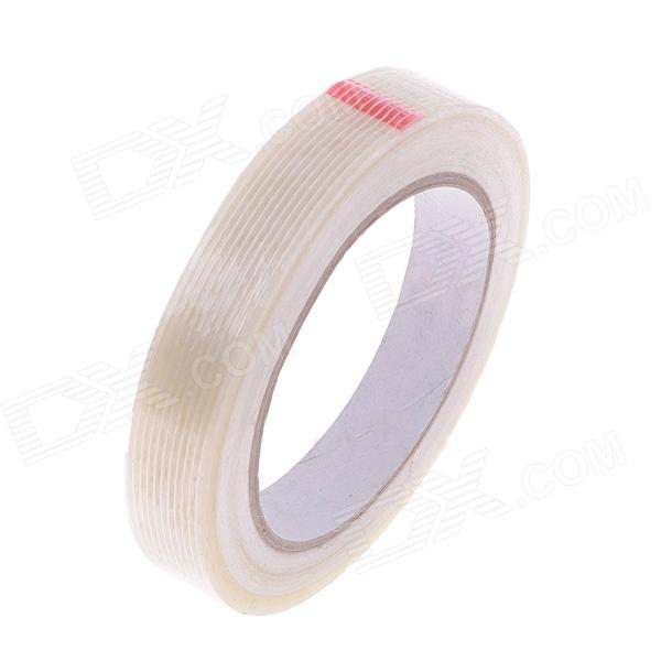Fiber Adhesive Tape Fixed Viscose for Packing / Bundling - Milky White (26m x 18mm) 2cm 3cm 4cm strong fiber strips adhesive tape for rc models