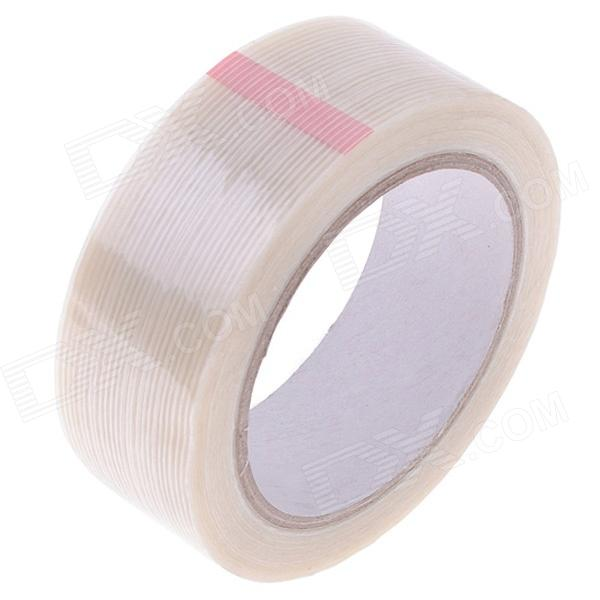 Fiber Adhesive Tape Fixed Viscose for Packing / Bundling - Milky White (26m x 40mm) 2cm 3cm 4cm strong fiber strips adhesive tape for rc models
