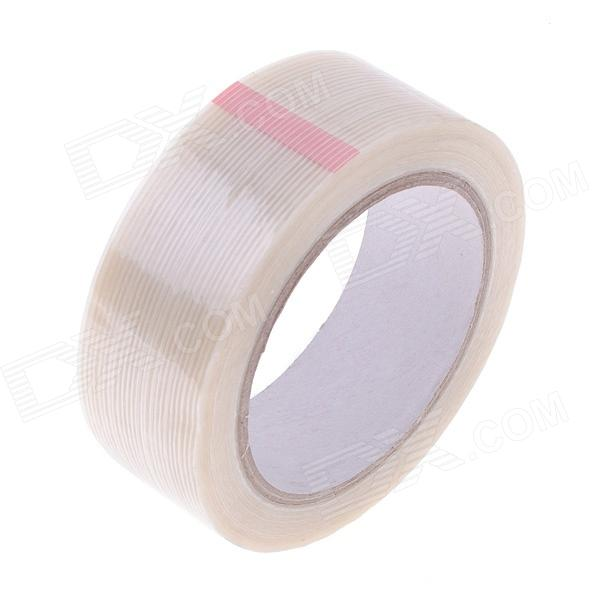 Fiber Adhesive Tape Fixed Viscose for Packing / Bundling - Milky White (26m x 36mm) 2cm 3cm 4cm strong fiber strips adhesive tape for rc models