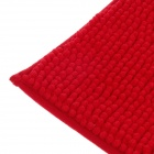 Anti-slip Water Absorption Soft Plush Bedroom Carpet Doormat - Red (Size-M)