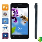 "WOOL n9500 MTK6582 Quad-core Android 4.2.2 WCDMA Bar Phone w/ 4.5"", GPS, RAM 1GB, ROM 4GB - Black"