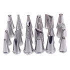 24-in-1 Stainless Steel Cake Decorating Tool Sugarcraft Nozzles Pastry Tube Tips - Silver