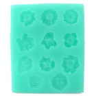 Silicone Flower Style Dessert Mold for Cake Decoration - Green