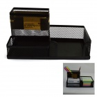 KW-trio® ZW-03 Desktop 3-Case Combination Pen Holder / Name Card Holder / Note Paper Box - Black