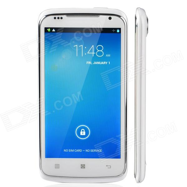 "S820 MTK6572 Android 4.2 Dual-Core Bar Phone w / 4.7 "", Wi-Fi / Kamera - Weiß + Silber"