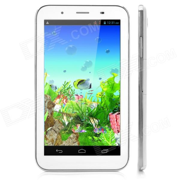 "X 6 7"" MTK6572 1,3 GHz Dual Core Android 4.2 3G Tablet PC 512 Mt RAM, 4 gt ROM, GPS - valkoinen"