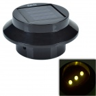 CMI LEH-44022BY 0.3W 3-LED Yellow Light Wall Light / Mounted Light - Black (2 x AA)
