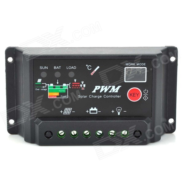 10A Solar Controller / Solar Power System / Street Lighting / Solar Home / Regulator - Black