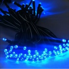 0.4W 10lm 100-LED Solar Powered Christmas Party Indoor Outdoor Flashing Fairy Light - Blue (17M)