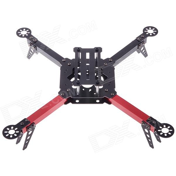 HJ-X330 Black Glass Fiber 4 Axis Frame Multiaxial Rack 4 Axis Aircraft Compatible for KK MWC - Red newest jmt j630 630mm carbon fiber 4 axis foldable rack frame kit high landing skid for diy drone rc racer quadcopter aircraft