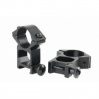 3-9x40 Mil-Dot Hunting Aluminum Alloy Scope Free Mount for Rifle - Black (1 x CR2032)