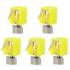 Jtron 4 x 6.5mm Mini vibración Coreless Motor - amarillo (DC 3 V / 5 PCS)