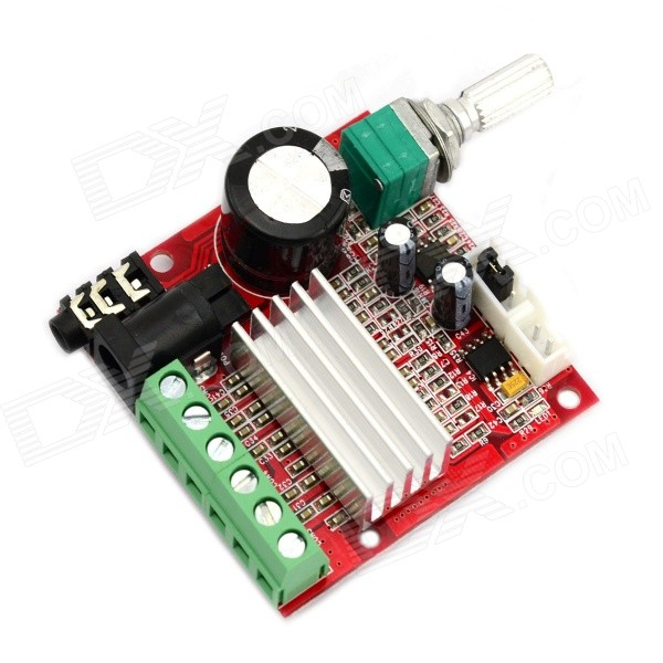 Jtron Mini 2.1 tabla de amplificador Digital de alta potencia - rojo