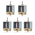Jtron Mini Magnetic N20 Bare Carbon Brush DC Motor - Silver (5 PCS)