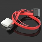 10632 Slim SATA 13-Pin to 7-Pin Data + 4-Pin Power Connection Cable