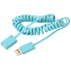 Telephone Line Style USB 3.0 Male to Female Extension Cable - Light Blue