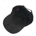 Outdoor Quick-dry Dacron Sun Protection Peaked Cap Hat - Black