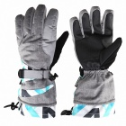 Keeping Warm Ski Gloves - Grey (Size L)