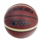 Winmax High Quality PU Basketball - Reddish Brown + Yellow + Black (Size 7)