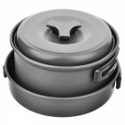 Tragbares Outdoor-Picknick-Pot - Schwarz