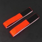 Velcro Tape Light Reflection Arm Band for Night Cycling - Red (2PCS)