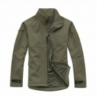 ESDY Men's Fleece Warm Wind Waterproof Jacket - Army Green (Size XL)